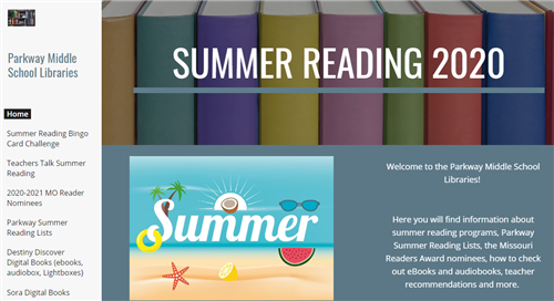 middle school summer reading site